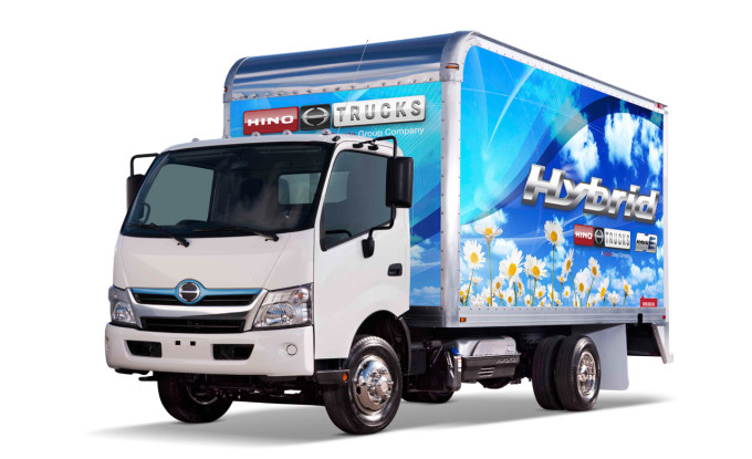 Hino Hybrid truck freight service